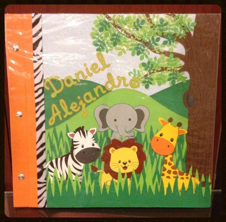 Lbum animales de la selva para ni o scrapbook lbumes - Decoracion de album de fotos ...