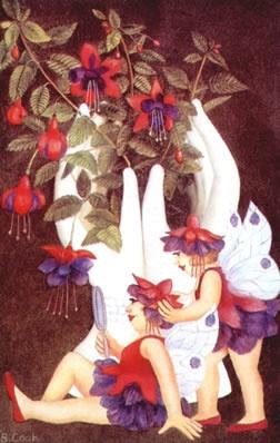 Fushia Fairies by Beryl Cook