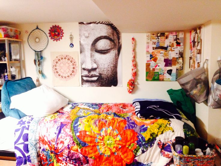 My boho dorm room in penn state's south halls #UOonCampus  #UOContest