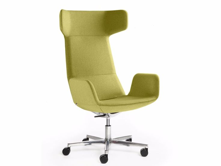Executive chair with armrests with casters FLEXI XL-BR-F37 Flexi Collection by LD Seating design Orlandini Design