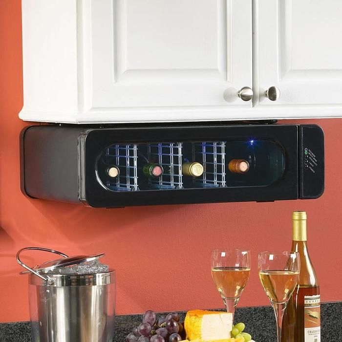 Under Cabinet wine fridge- want one of these for sure!