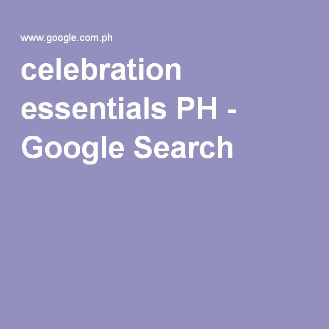celebration essentials PH - Google Search