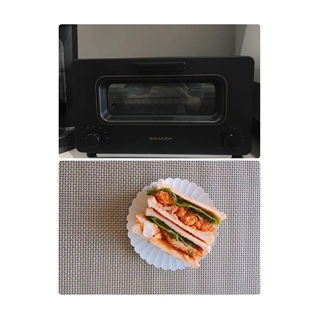 2017/02/19 08:22:11 sa____home * バルミューダトースター🍞 安い食パンもおいしくなります😋 * #バルミューダ#トースター#balmuda #サンドイッチ#sandwich #aritajapan #有田焼#instafood