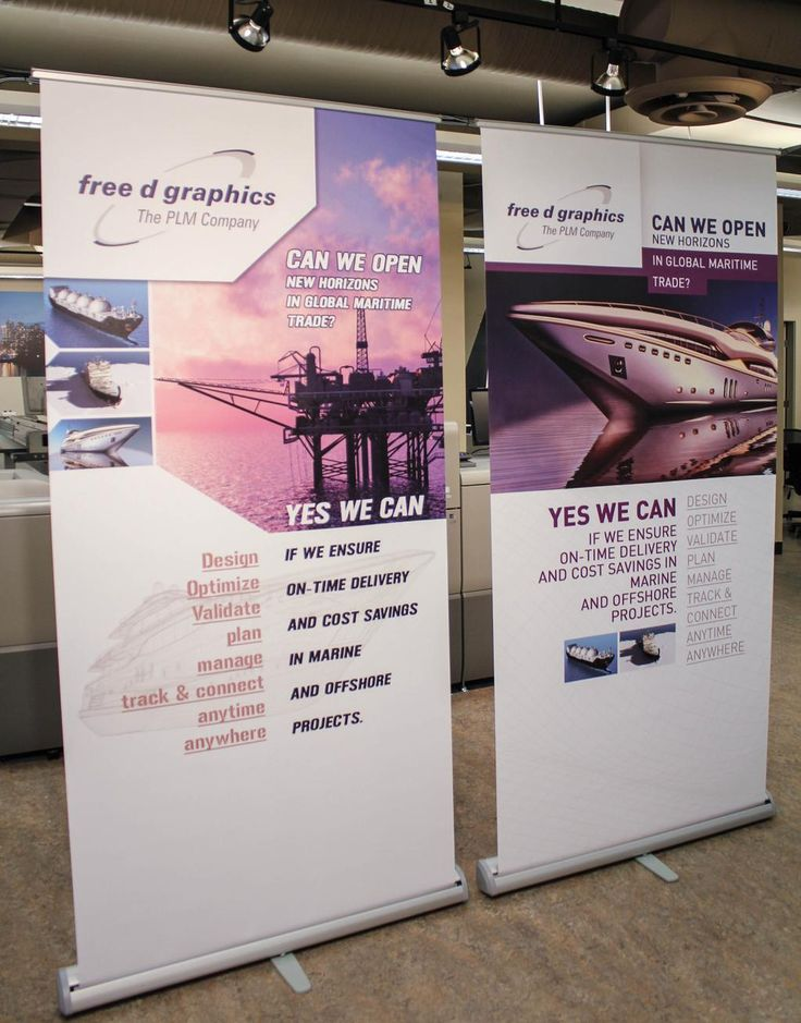 Eye-catching retractable banners for @freedgraphicsca
