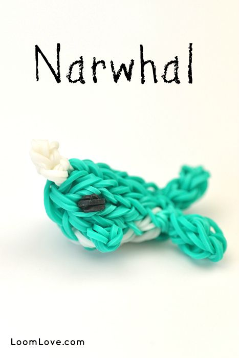 How to Make a Rainbow Loom Narwhal Charm