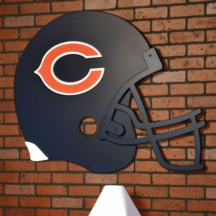 Charming For The Die Hard Football Fan! Fan Creations Chicago Bears Giant Helmet Art  #