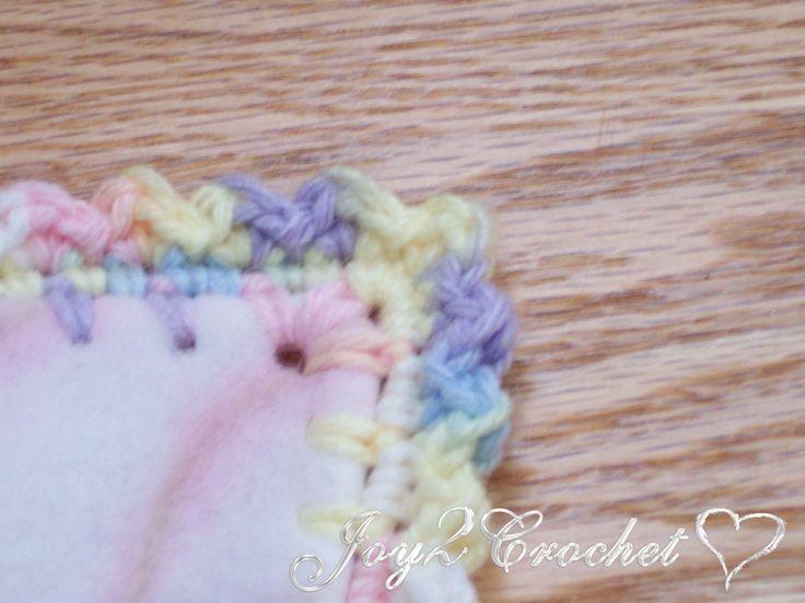 Joy 2 Crochet: Fleece Baby Blankets with Crocheted Edge. Instructions are pretty easy to follow.