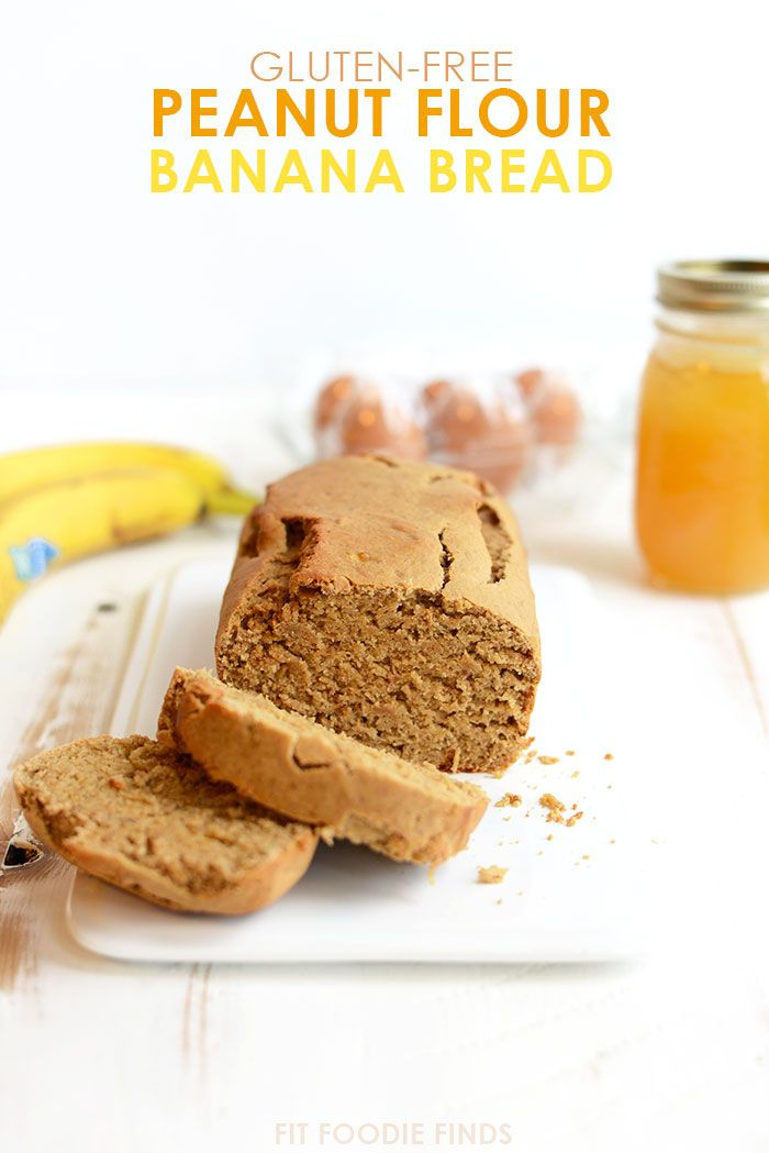 Peanut Flour Banana Bread