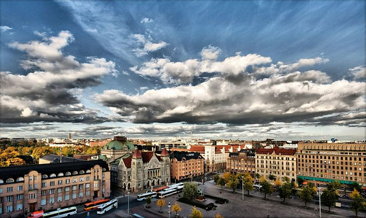 Helsinki's city center.