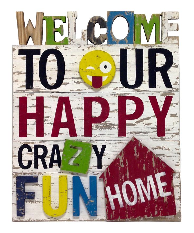 'Welcome to Our Home' Cutout Wood Sign
