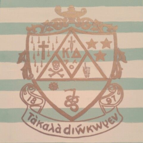 Kappa Delta Crest Canvas