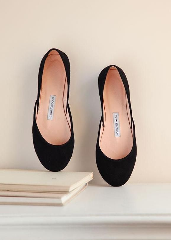 e330b8ac717 Black nubuck ballet flats made with a velvety soft fabric Before placing  your order
