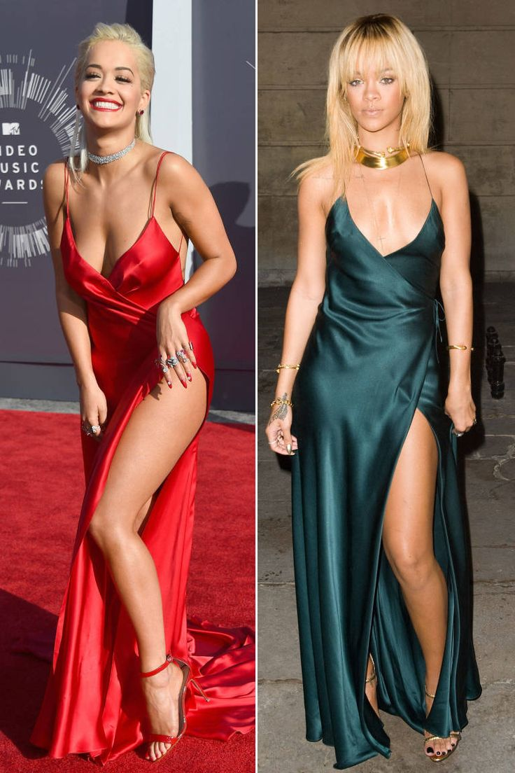 Same dress, different colour- who wore it better (Rita obviously)