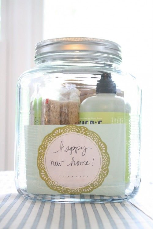 37 Different Gifts In A Jar: New Home, Gifts Jars, Gifts Ideas, Cute Ideas, Diy Gifts, Great Ideas, Housewarming Gifts, Gifts In A Jar, Jars Gifts