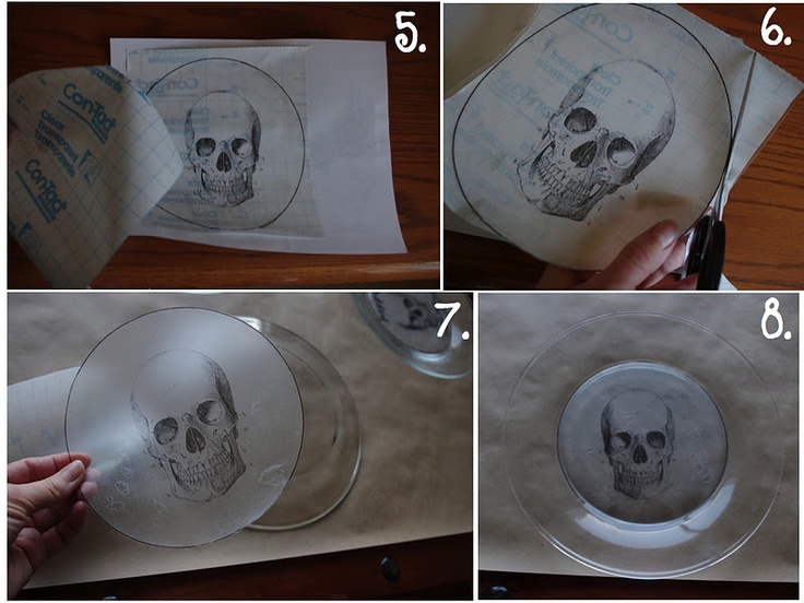 DIY - Make Your Own Halloween Plates (Source : http://creativetryals.blogspot.fr/2011/10/make-your-own-halloween-plates.html) #halloween #decor
