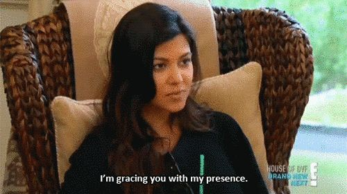 For when someone asks what you brought to the party. | Community Post: 41 Kardashian GIF Reactions For Every Situation