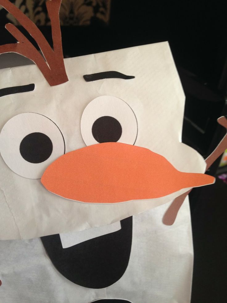 Clearly Candace: Do You Want To Build A Snowman? Easy Olaf Frozen Party Favor Bags