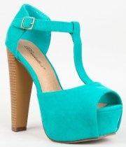 Breckelles BRINA-01 Chunky High Heel T-Strap Platform Peep Toe Sandal From Breckelles - Bags or Shoes Shop