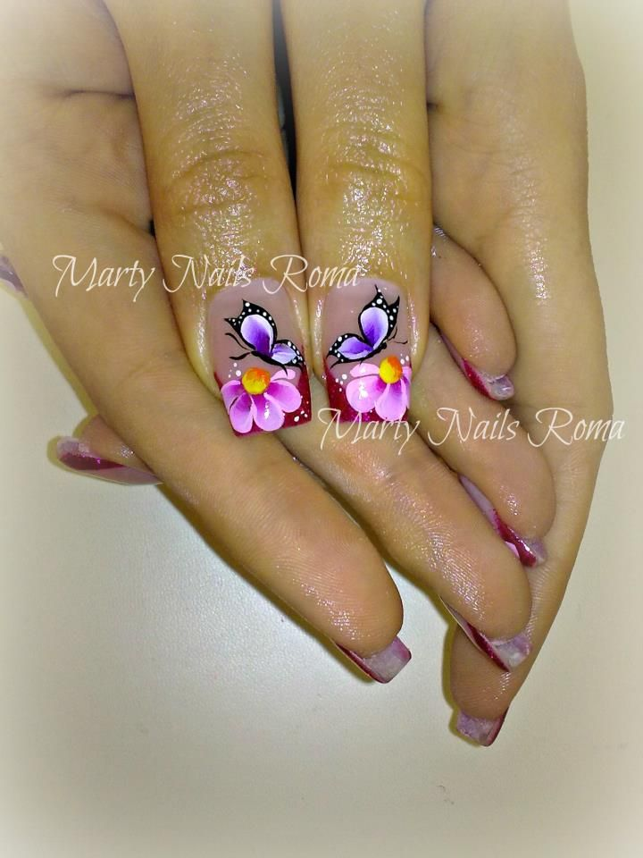 wow butterfly nails