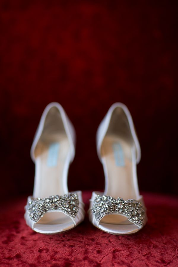 Beautiful wedding shoes love the bling