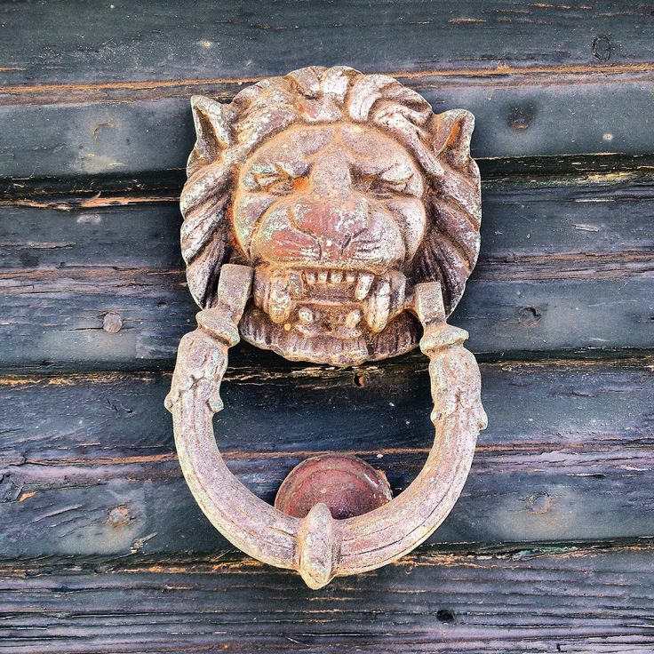 Ροπτρο. Roptro. Lion Knocker. Door. Tinos. Greece.