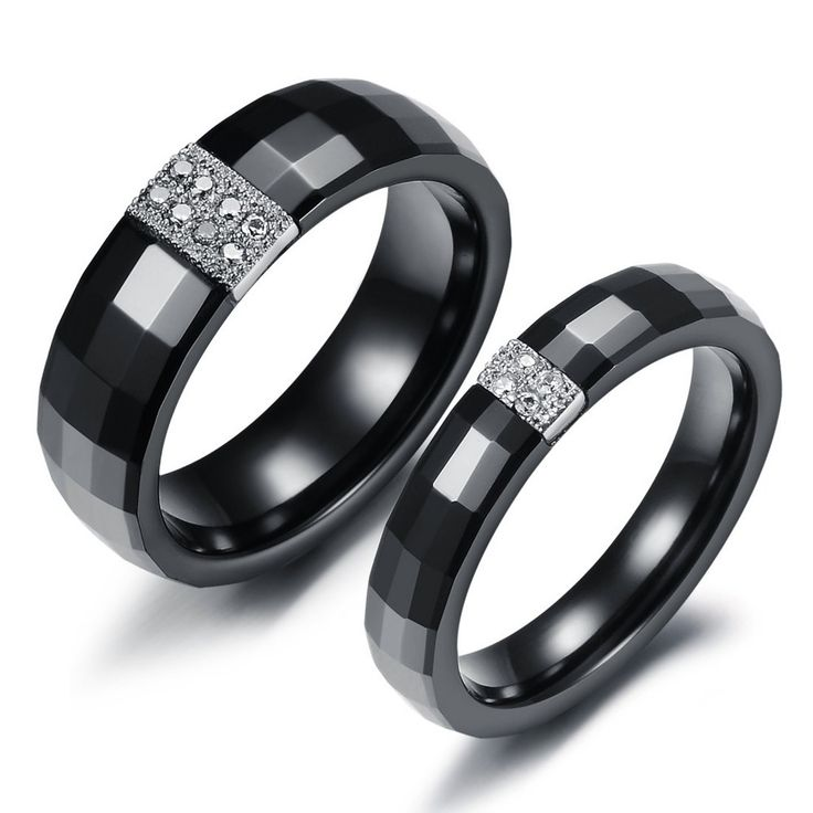 black wedding rings for him and her alluring black wedding rings - Black Wedding Rings For Her