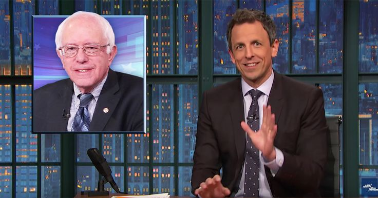 """Once in a while someone transcends their age and enters the Betty White Zone of support from another generation"" _ ajn 20, 2016 -  Seth Meyers just explained the Bernie Sanders surge — and why the media totally missed it"