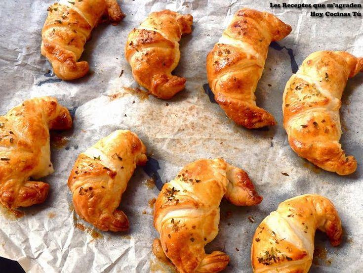 Mini croissants de pollo Alfredo