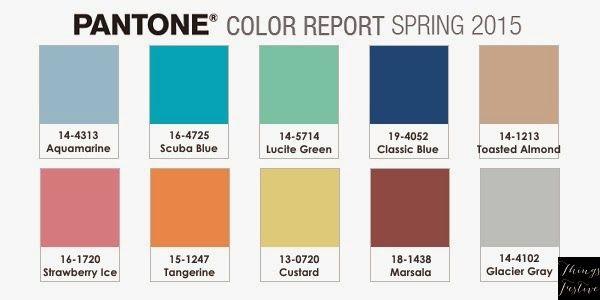 Things Festive Weddings & Events: Color Palette Inspiration: Pantone Spring 2015 Color Report