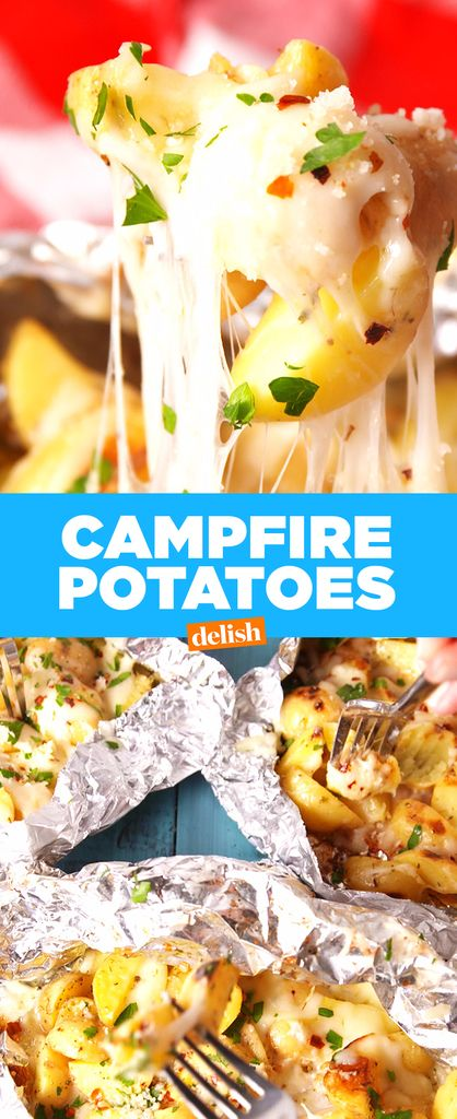 These Cheesy Campfire Potatoes Are So Much Better Than Cheese Fries  - Delish.com