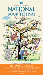 2013 Library of Congress National Book Festival Poster. Poster Artist: Suzy Lee.