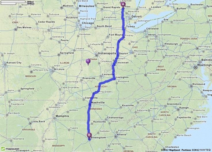 Michigan Travel Directions - Driving map of michigan