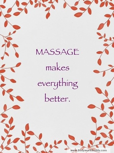 #Massage makes everything better.