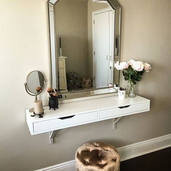 Ekby Alex Shelf As Vanity Tiny Apt Tinier Closet Pinterest