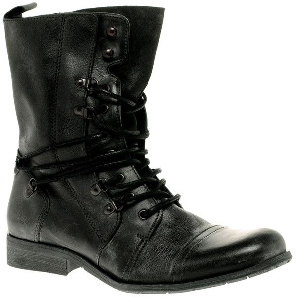 River Island Military Boots ($141) ❤ liked on Polyvore featuring men's fashion, men's shoes, men's boots, shoes, boots and sapatos