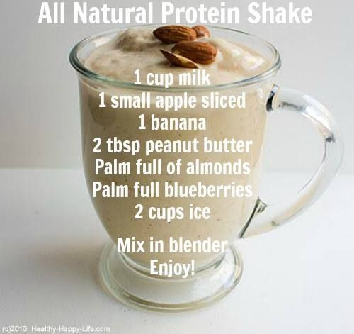 All Natural Protein Shake- jenn I want to try this!! :)