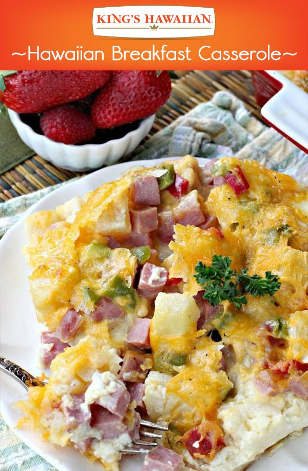 Easter ham makes a delicious addition to an easy breakfast casserole!
