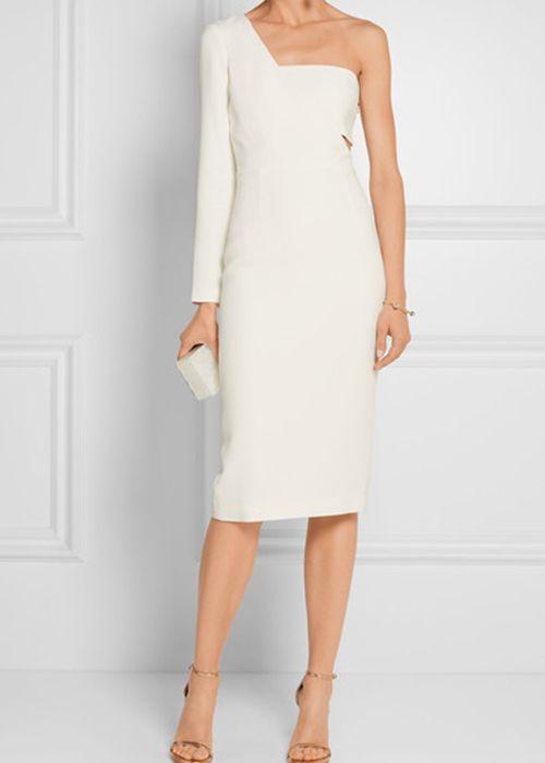 One-Shoulder Wedding Dress Cushnie et Ochs   Brides.com