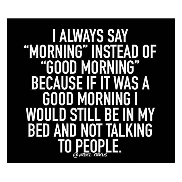 (Good) Morning People #goodmorning #mondaymotivation