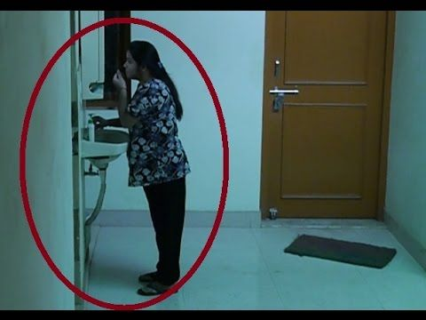 Scary ghost on tape: Man walked through a real scary GHOST on tape | Paranormal videos - YouTube