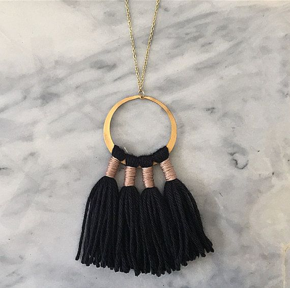 No. 7 // Fiber Necklace // Tassel Necklace