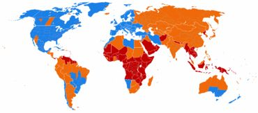 Although not used by most of the world's countries, daylight saving time is common in the Western world.