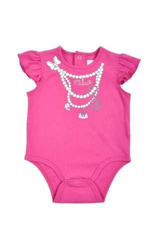 Body para bebe niña, en color fuchsia.