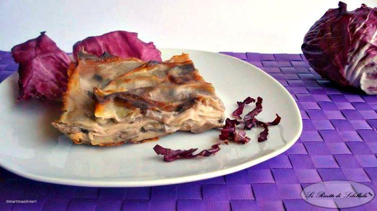 Ricetta per realizzare delle squisite lasagne al radicchio e taleggio.