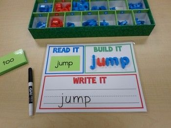 Read It, Build It, Write It - A Dolch Sight Words Center $