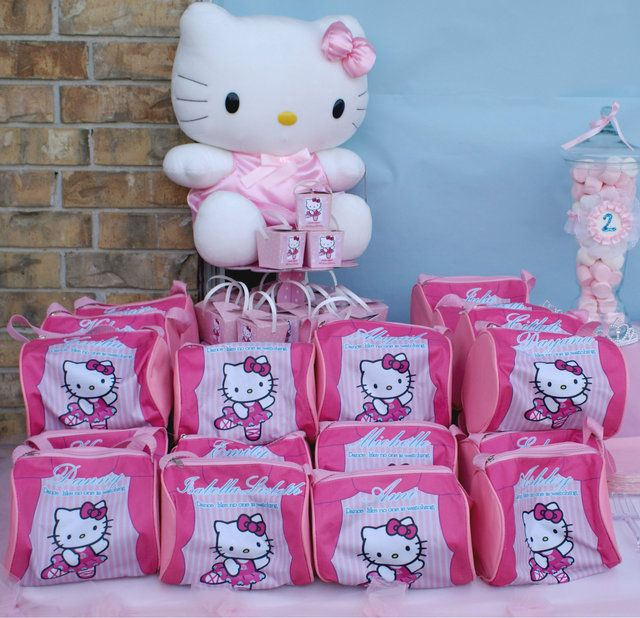 Hello Kitty Party Favors. Pricey but for a small party of 5 it's a good idea.