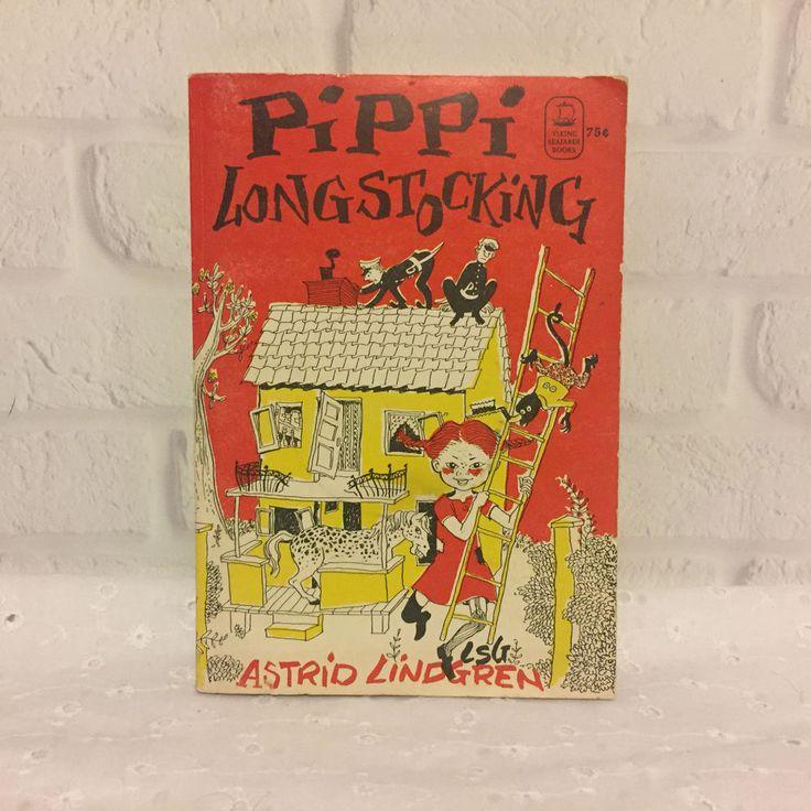 Pippi Longstocking Astrid Lindgren 1969 Viking Seafarer Vintage
