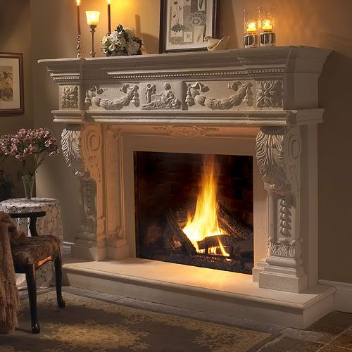 todayu0027s precast stone fireplace mantels and surrounds are nearly identical in appearance and texture to natural stone