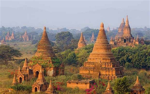The ancient city of Bagan in Burma
