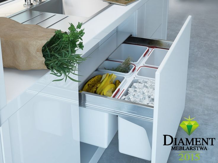 Przedstawiamy Wam naszą szufladę z pojemnikami na odpady Linii Maxima – zdobywcę tytułu Diament Meblarstwa 2015.